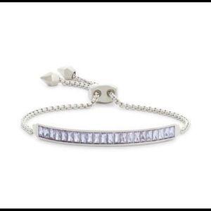 Kendra Scott Jack Slider Lilac Crystal Bracelet
